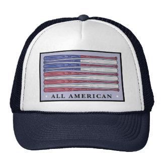 All American baseball bats flag patriotic hat