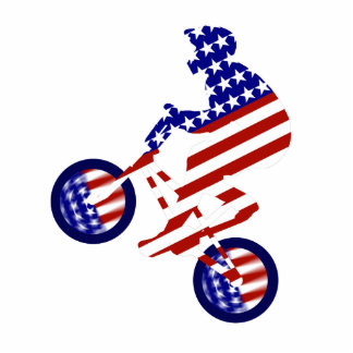 All-American BMX Rider Standing Photo Sculpture