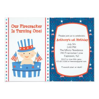 All American Boys First Birthday Invitation