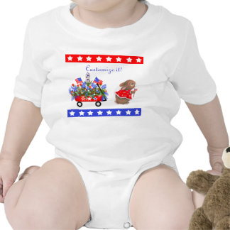 """""""All American Bunny Parade"""" Infant Creeper"""