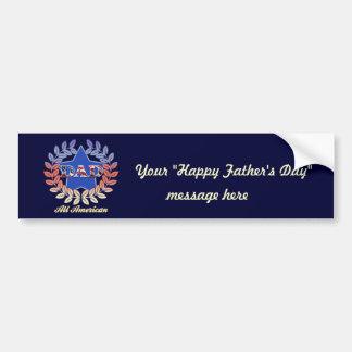 All American Dad Car Bumper Sticker