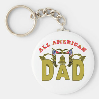 All American Dad with Vintage Design Key Chains