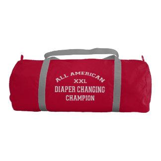 All American Diaper Changing Champion Gym Duffel Bag