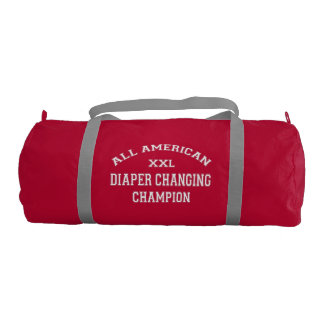 All American Diaper Changing Champion Gym Duffel Bag