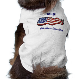 All American Dog Custom Personalized Name Sleeveless Dog Shirt