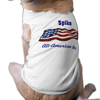 All American Dog Patriotic Personalized Name Shirt