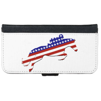 All-American Equestrian Rider iPhone 6 Wallet Case
