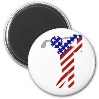 All American Golfer - Mens Golf Magnets