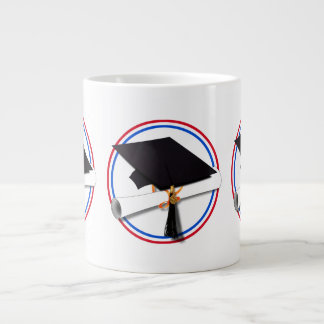 All American Grad - Red White Blue Colors Extra Large Mug