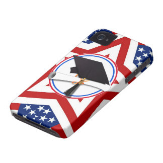 All American Grad - Red White & Blue on Stars Blackberry Case