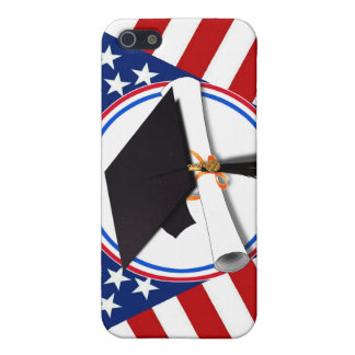 All American Grad - Red White & Blue on Stars iPhone 5 Case