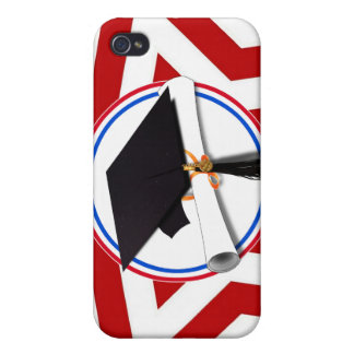 All American Grad - Red White & Blue on Stars iPhone 4 Covers