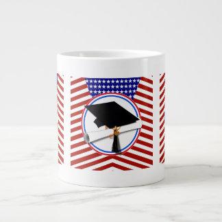 All American Grad - Red White & Blue on Stars Jumbo Mug