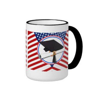 All American Grad - Red White & Blue on Stars Coffee Mug
