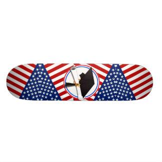 All American Grad - Red White & Blue on Stars Skate Decks