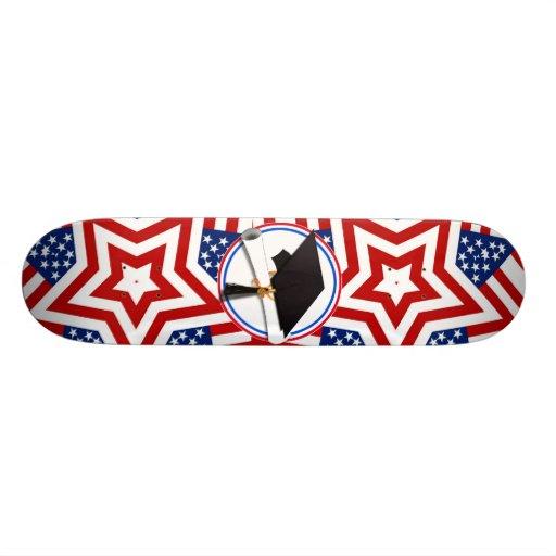 All American Grad - Red White & Blue on Stars Skateboards