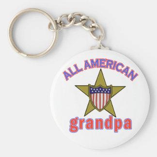 All American Grandpa Tshirts and Gifts Key Chain