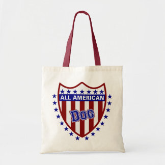 All American Patriotic Dog Budget Tote Bag