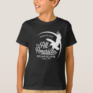All-American Solar Eclipse Eagle - with City/State T-Shirt