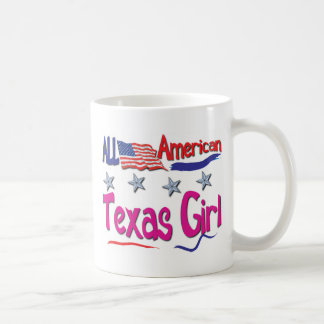 All American Texas Girl Basic White Mug