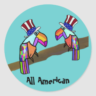 All American Toucan Stickers