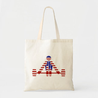 All American Weightlifter - Powerlifting Budget Tote Bag