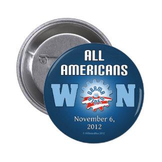 All Americans Won On Nov. 6, 2012 6 Cm Round Badge