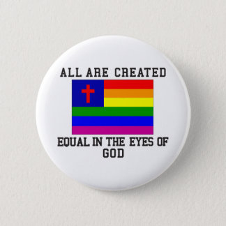All are Created Equal 6 Cm Round Badge