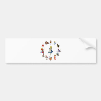 ALL AROUND ALICE IN WONDERLAND BUMPER STICKER