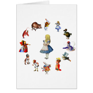 ALL AROUND ALICE IN WONDERLAND GREETING CARD