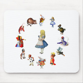 ALL AROUND ALICE IN WONDERLAND MOUSE PADS
