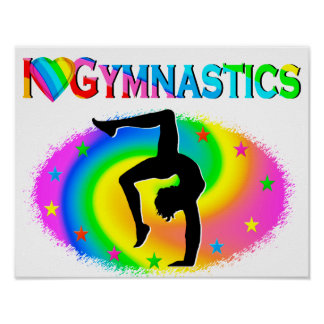 ALL AROUND GYMNASTICS CHAMPION POSTER