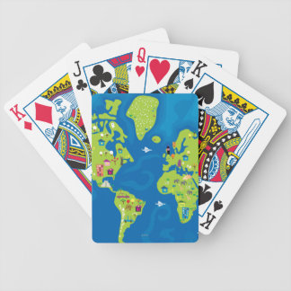 All Around the World Bicycle Playing Cards