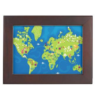 All Around the World Keepsake Box