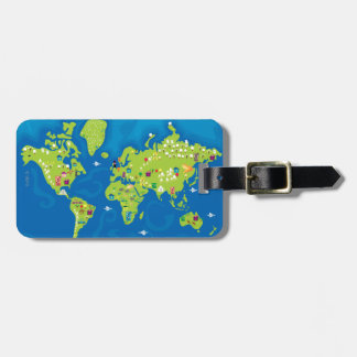 All Around the World Luggage Tag