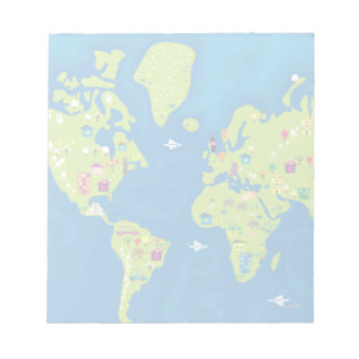 All Around the World Notepad