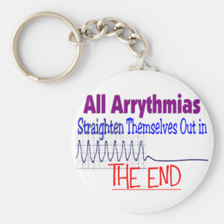 All arrhythmias straighten themselves out END Basic Round Button Key Ring