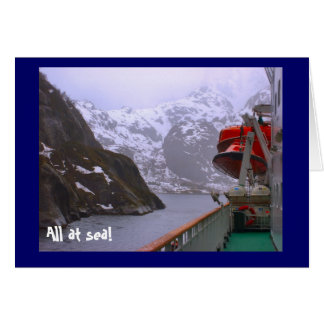 All at sea!, on the Norwegian fjords Card