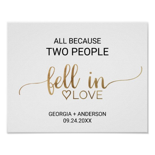 All Because Two People Fell In Love Poster
