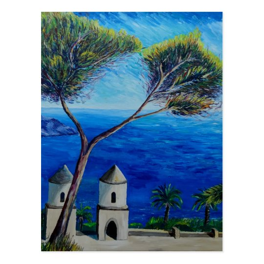 All Blue on Amalfi Coast in Italy Postcard