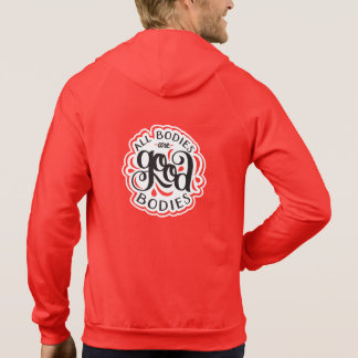 All Bodies are Good Bodies Unisex Red Hoodie