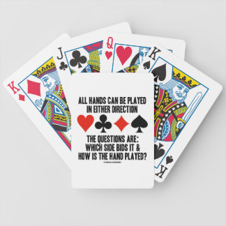 All (Bridge) Hands Can Be Played Either Direction Card Deck