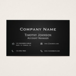 All Business Black Business Card