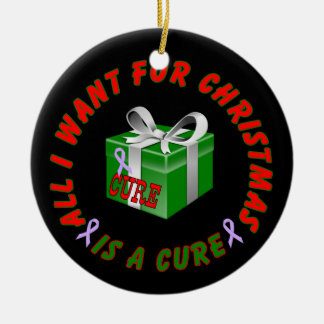 All Cancer Awareness Ribbon Christmas Ornament