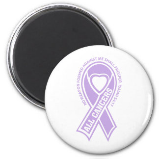All Cancers No Weapon Formed Against Me 6 Cm Round Magnet