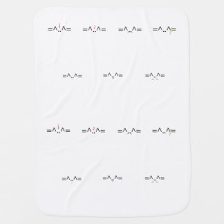 All Cat Design Baby Blanket