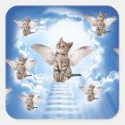 All Cats Go to Heaven Square Sticker