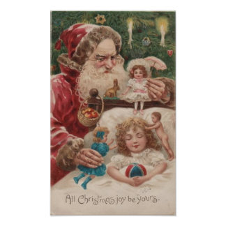 All Christmas Joy Be Yours Child Santa Posters