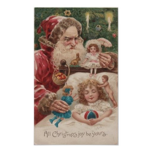 All Christmas Joy Be Yours Child, Santa Posters