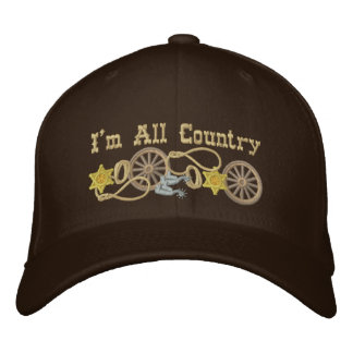 All Country Western Theme Embroidered Baseball Caps